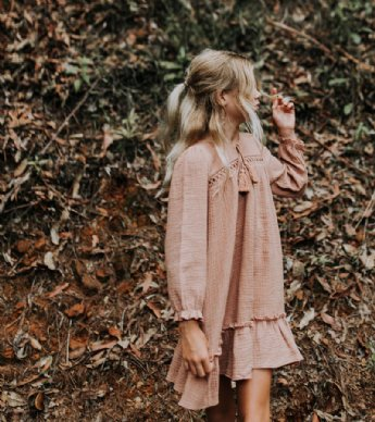 Byron Baby Doll Dress - Blush