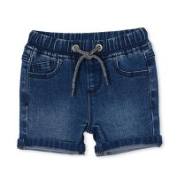 Knit Denim Short - Mid Wash Denim (Available up to Size 12!)