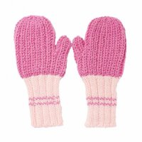Campside Ribbed Mittens - Fushia