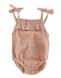 Luna Embroidered Playsuit - Sunset