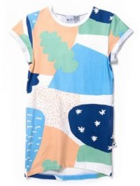 Cosmic Rolled Up Tee Dress