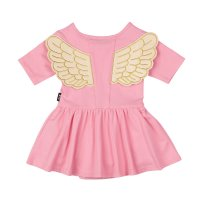 * PRE-ORDER * Pink Fairy Flutter Baby Waisted Dress (Back View)