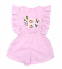 Honore Onesie - Sorbet with Embroidery