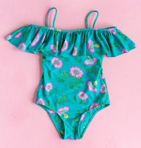 One Piece with Frill - Jade Dogwood Rose