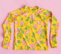 Rasher Vest Top - Yellow Dogwood Rose
