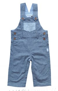 Baby Boys Roy Dungaree - Dark Grey