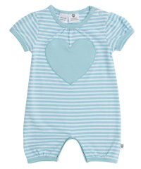 New Favourite Romper - Light Cobalt Lurex Stripe (Baby)