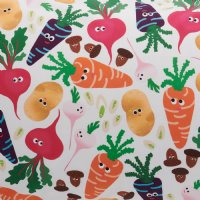 Vegie Patch Cotton Fitted Sheet - Single