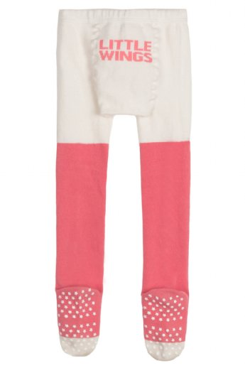 Tights -Heart - Pink/Cream