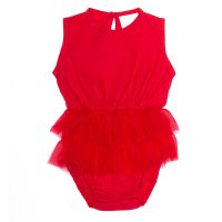 Mischa Playsuit - Red