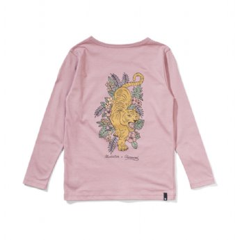 Out Of The Woods L/S Tee - Dusty Pink (Look At My Back!)