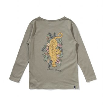 Out Of The Woods L/S Tee - Olive (Look At My Back!)
