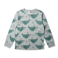 Whale Pod Tee - Muted Green