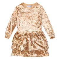 Velvet Glamour Dress - Gold