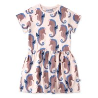 Painted Seahorse Dress - Ballet Pink