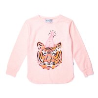 Party Tiger Tee - Pink Marle