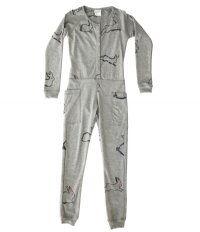 Bunny Jumpsuit - Big Kids Loungewear Onesie