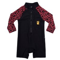Red Leopard L/S Swimsuit (Baby)