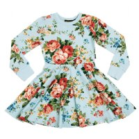 French Floral L/S Waisted Dress