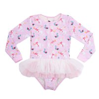Unicorn Ribbons L/S Tulle One Piece