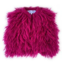 Shaggy Vest - Electric Pink