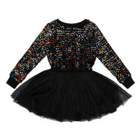 Sequin L/S Circus Dress