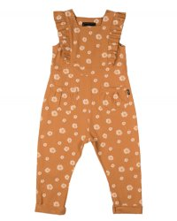 * PRE-ORDER * Brown Daisy Jumpsuit