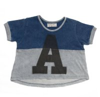 A Crop Top - Navy/Grey