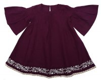Anouk Dress - Boysenberry Embroidery