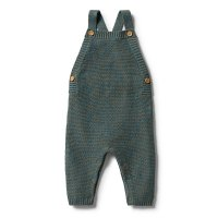 Dusty Olive Fleck Knitted Overall